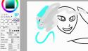 Раскраска рисунка акварелью